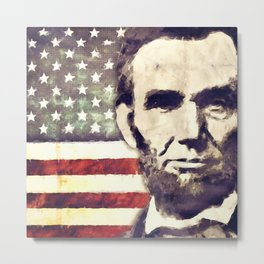 Patriot President Abraham Lincoln Metal Print