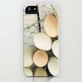 Eggs in one basket iPhone Case