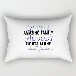 world cancer day commemorative with a loving quote Rectangular Pillow