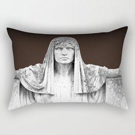 The destiny goddess  - Art deco statue of woman with peplum Rectangular Pillow