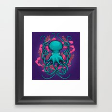 Octupus and Coral Framed Art Print