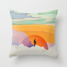 I Like to Watch the Sun Come Up - (White Version) Throw Pillow