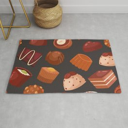 chocolate pattern Rug