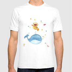 Baby whale White Mens Fitted Tee MEDIUM