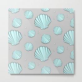 Sea shell jewel pattern Metal Print