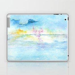 Blue Sky Watercolor Illustration Laptop & iPad Skin