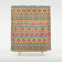 american Shower Curtains featuring American Indian by Pancho the Macho