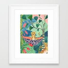 Jungle Leopard Family Framed Art Print