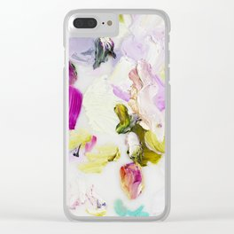 Back to Joy (Abstract Painting) Clear iPhone Case