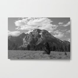 Desert Mountain with Clouds Metal Print