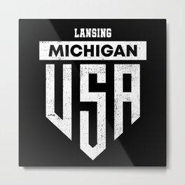 Lansing Michigan Metal Print