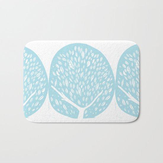 Tree of life - baby blue Bath Mat