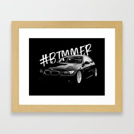 BMW E92 Ilustration Framed Art Print