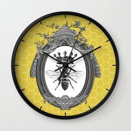 Queen Bee | Vintage Bee with Crown | Honeycomb | Wall Clock