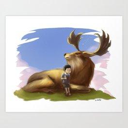 DeerBoy Art Print