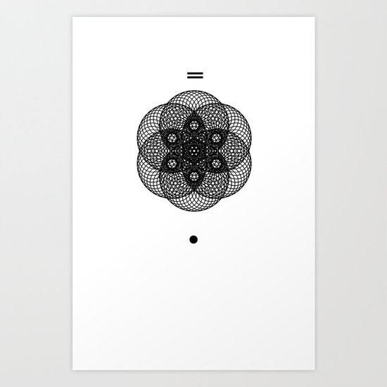 Mesh Geometry II White Art Print