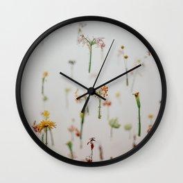 Floral Fish Tank Wall Clock