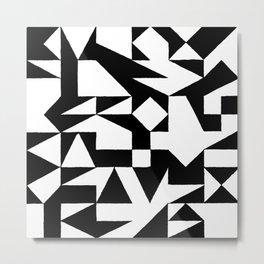 English Square (Black & White) Metal Print