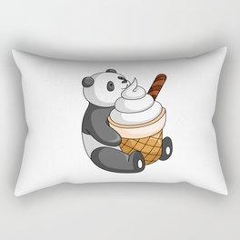 Hey Bear Panda White Ice Cream Rectangular Pillow