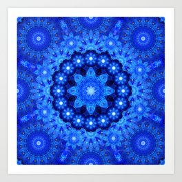 Lapis Crown Mandala Art Print