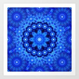 Lapis Crown Mandala Art Print
