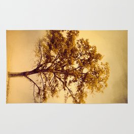 Amber Gold Cotton Field Tree Rug