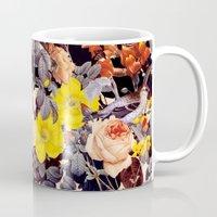 floral pattern Mugs featuring Floral Pattern by Burcu Korkmazyurek