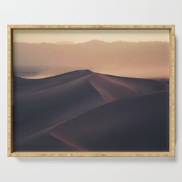 Poetic Sand Mountains Desert (Color) Serving Tray