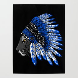 Indian chief tiger Poster