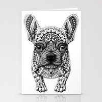 frenchie Stationery Cards featuring Frenchie by BIOWORKZ