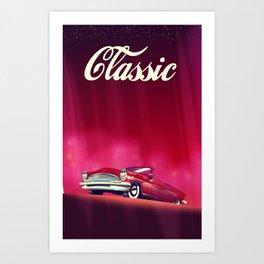 Classic Vintage Car, Art Print
