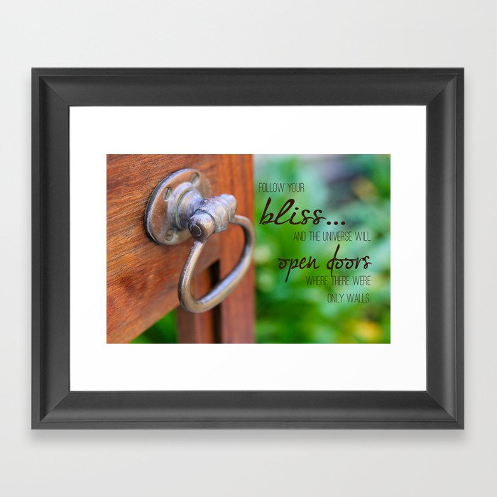 Bliss... Open Door Framed Art Print