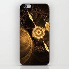 Golden Clock iPhone Skin