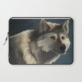 Grey Wolf in the Morning Laptop Sleeve