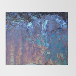 Waterfall. Rustic & crumby paint. Throw Blanket