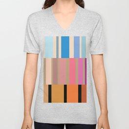 Many stripes Unisex V-Neck