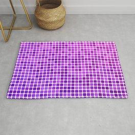 Pink purple mosaic Rug