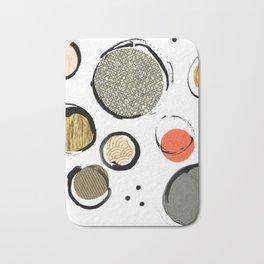 Ink Collage Bath Mat