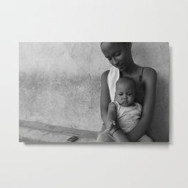 A Young Mother Metal Print