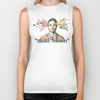 james franco Biker Tanks featuring Mind Blown::James Franco by James Murlin