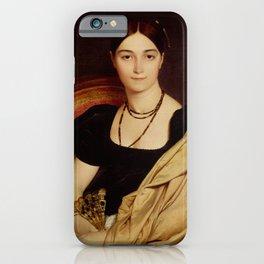 """Jean-Auguste-Dominique Ingres """"Portrait de Madame Duvaucey"""" iPhone Case"""