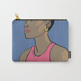 Femme au cheveux courts Carry-All Pouch