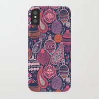 bohemian iPhone & iPod Cases featuring Bohemian Christmas by Demi Goutte