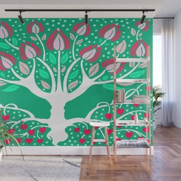 Love Grows Forever - Emerald Green Wall Mural