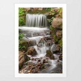Jean-Drapeau Waterfall Art Print