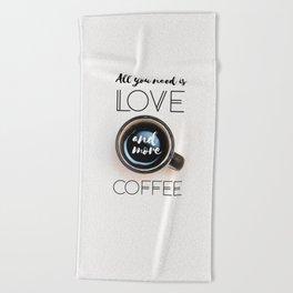 Love & Coffee Beach Towel