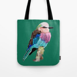 Lilac Breasted Roller Bird Tote Bag