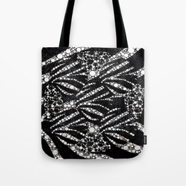 Black&Silver Abstract Bling Pattern  Tote Bag