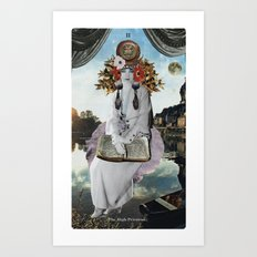 2. The High Priestess Art Print