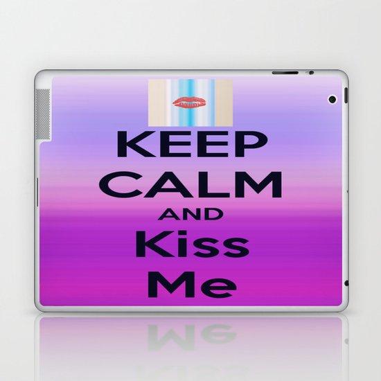 Keep Calm and Kiss me Laptop & iPad Skin